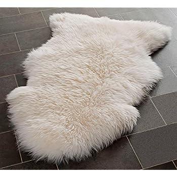 Genuine Large Sheepskin Rug With Extra Thick Wool (SuperLarge (120x70cm))
