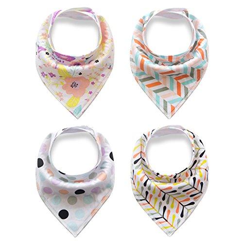 Baby Lätzchen Kleinkinder Halstücher Dreieckstücher Babytücher für Mädchen oder Junge -4 Stück (Farbe5)