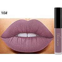 pintalabios lustre,Oyedens Nuevo labio lingerie matte líquido lápiz labial impermeable brillo labial maquillaje 14 tonos (D)