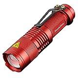 DaskFire sk68 7W 300LM 3 Modi Mini LED Taschenlampe Lampe Einstellbarer Fokus Zoomable Handheld Light-Red