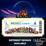 Wedding Cards Walt Disney World Florida Orlando Disneyland Paris Land - Cartera para Tarjetas de Visita, diseño con Texto en inglés All Characters