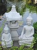 2 x BUDDHA + YUKIMI... K japanische Steinlaterne