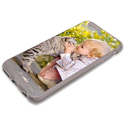 Premium Handyhülle für Apple iPhone-Serie selbst Gestalten mit eigenem Foto und Text * Bild Cover Kappe Schutzhülle, Hülle:Slim-Silikon/Schwarz (transparent), Handymodell:Apple iPhone X