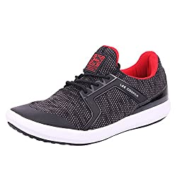 Lee Cooper Mens Black_Red Nordic Walking Shoes-9 UK/India (43 EU)(LC3623)