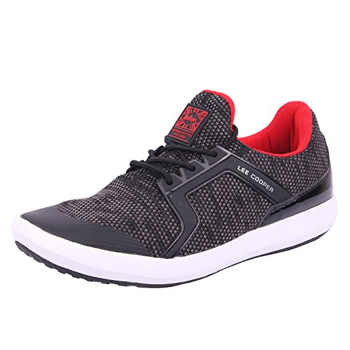 Lee Cooper Mens Black_Red Nordic Walking Shoes-9 UK/India (43 EU)(LC3623)