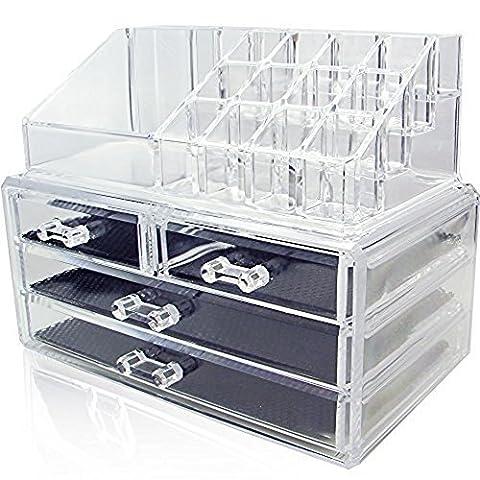 enipate klar Acryl Make-up Kosmetik Organizer Storage Box Fall mit Schubladen