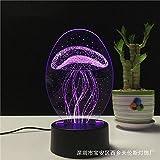 Lámpara de mesa 3d inducción del cuerpo humano control remoto colorido creativo llevado@Medusas_Sección de interruptor...