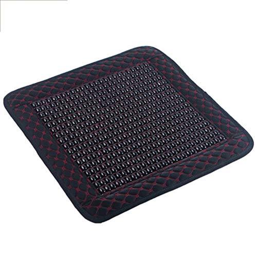 Yxian Sommer Bambus Luftkühlung Auto Sitzkissen Matte mit Dual, Carbonized Natur Bambus Handgemacht, tragbare Kühler Kissen Sitzbezug,B,40x40cm(16x16inch)