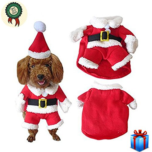 Schaf Kostüm Xl Hunde - Hündchen T-Shirt Haustier Hund Kleidung hundebekleidung für Weihnachten Kostüm Hundejacke winter kleine Cute Elk Weihnachten Santa White Schafe für Teddy, Yorkshire Terrier, Chihuahua, Pommern, etc , A , xl