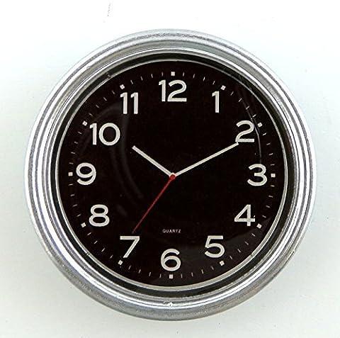 Maison De Poupées Miniature 1:12 Échelle Accessoire Moderne Argent Chrome Rond Mural Horloge