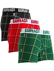 Bawbags 3 Pack Tartan Mens Boxers