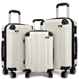 Kono 3pcs Luggage Set Hard Shell Suitcase Light Weight ABS 4 Wheels Spinner