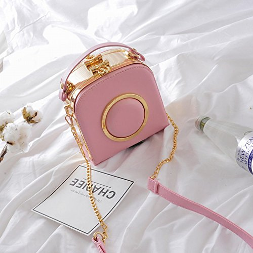 Paket Kette Kleine Quadratische Tasche Kameratasche Schulter Messenger Bag Rosa