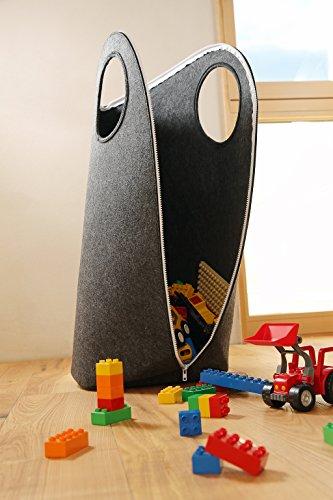 SKASON WALKKI – Spielzeugaufbewahrung, Wäschesammler, Wäschesack, Filz dunkelgrau