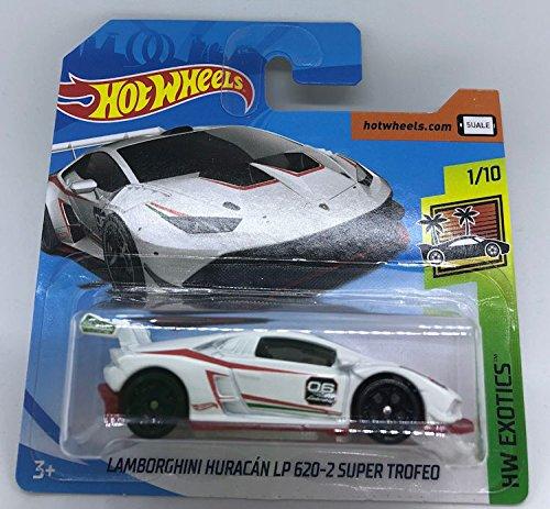 Hot Wheels 2018 Lamborghini Huracan LP 620-2 Super Trofeo White 1/10 HW Exotics 150/365 (Short Card)