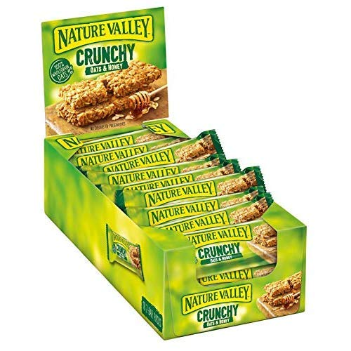 Nature Valley Crunchy Hafer & Honig, Müsliriegel, 18x2-Bar Pack (18 x 42g) -