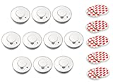 10er Set Rauchmelder mit Magnethalter | Feueralarm Rauchalarm Feuermelder Magnet