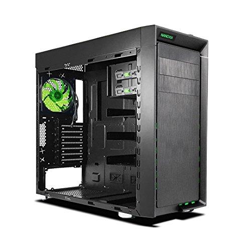 Front-mount Lüfter (Nanoxia 600065100 CoolForce 1, ATX Midi-Tower, 1x USB 3.1, 2x USB 3.0, 3x CoolForce Lüfter, 2x 30 cm Rigid LED (Grün/Front))