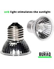 BuraQ Turtle uv Ultraviolet uvb uva lamp Basking Infrared Light Heat Bulb for Reptiles Lizards (25w/50w/75w)