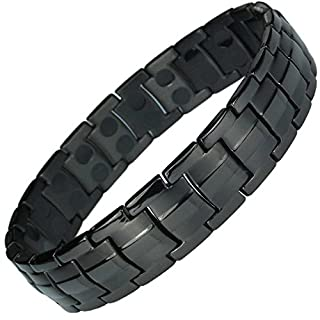 MPS® Europe Jet Black Titanium Magnetic Bracelet + Free Links Removal Tool