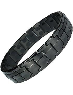 MPS® Titan magnetische Armband für Männer mit Klappschließe, 2 Magnete in jedem Link, Leistungsstarke 3000 Gauß...