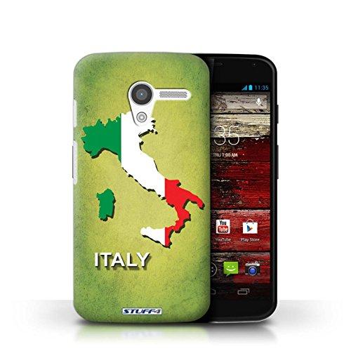 Kobalt® Imprimé Etui / Coque pour Motorola MOTO X / Afrique du Sud/Afrique conception / Série Drapeau Pays Italie/Italien