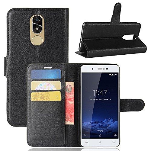 ECENCE Handyhülle Schutzhülle Case Cover kompatibel für Cubot Note Plus Handytasche Schwarz 41040205