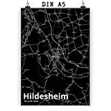 Mr. & Mrs. Panda Poster DIN A5 Stadt Hildesheim Stadt Black