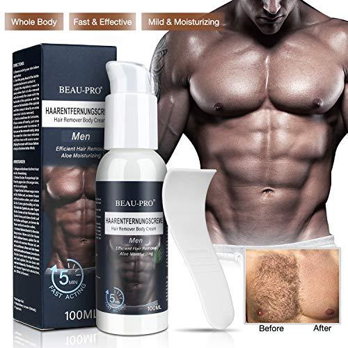 Enthaarungscreme Haarentfernungscreme - für Männer Frauen Haarentfernung Creme, Hair Removal Cream, Schmerzlos Enthaarungsmittel auf Rücken,Armen,Beinen,Achseln,Bikini -Sanft Haut 100ml