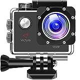Victure Action Camera 12 MP Full HD 1080p Sport Helmet Cam Subacquea 30 m Immersione Impermeabile per videocamera