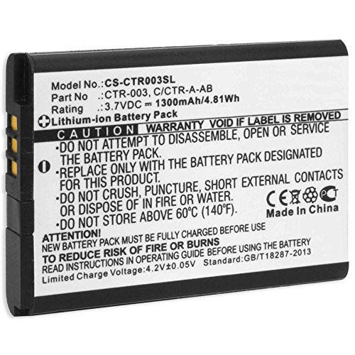 Ersatz-Akku für Nintendo 3DS / Nintendo 2DS, New 2DS XL, N2DS XL/Nintendo Wii U Pro Controller (ersetzt Original-Akkus Nintendo CTR-001, CTR-003)
