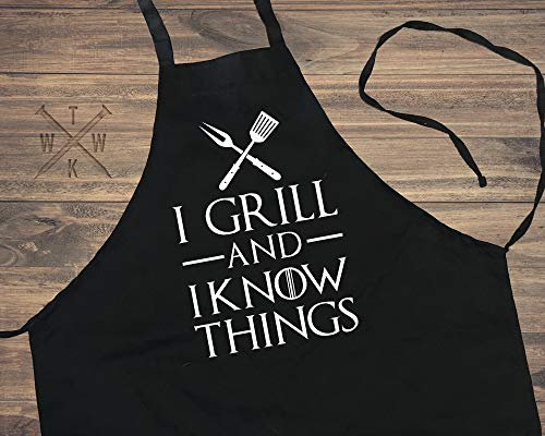 463Opher Grill and I Know Things Delantal Hombre