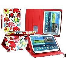 Emartbuy Wolder miTab Pro + 10.1 Pulgadas HD Tablet PC Universal ( 10 - 11 Pulgadas ) Multicolor Elefantes Ángulo Múltiples Ejecutivo Folio Funda Carcasa Con Ranuras Para Tarjetas+ Lápiz Óptico