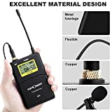 K & F Concept M9 100-channel UHF Wireless Microphone System with 2 Transmitter/Portable Receiver/ 2 Lavalier Mic/Shoe Mount/Hard Case for Canon Nikon Sony Camera Camcorder 3.5mm/XLR Cable