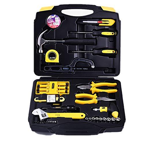 Werkzeugsatz, 45 Stück Steckschlüssel Auto Repair Tool Kombinationspaket Gemischtes Werkzeug Set Handwerkzeug-Kit mit Kunststoff-Toolbox-Aufbewahrungskoffer, 35 X 31 X 9,5 cm, 2 kg