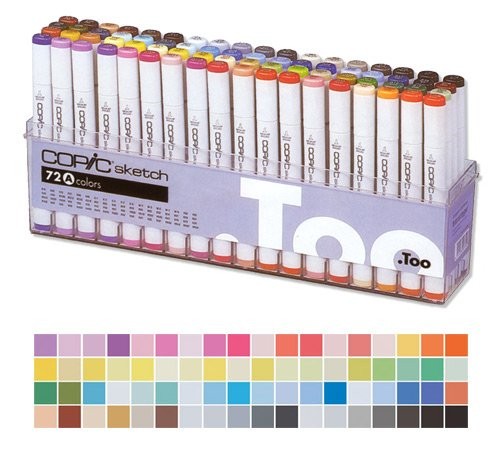 COPIC sketch 72er Set A 21075160 Marker Pinselmarker Profimarker Copicset (Copic Marker Sketch Set E)