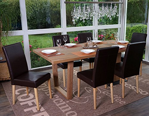 Sedie Sala Da Pranzo Ecopelle : Mendler sedia sala da pranzo hwc a ii design retro legno tessuto