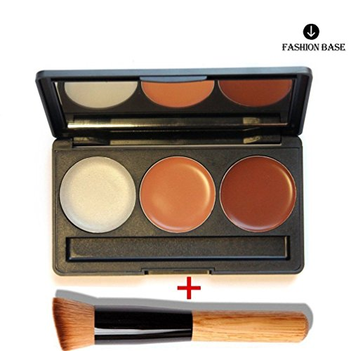 Fashion Base® 3 colore Contour Palette - Professional Blemish Concealer - Make Up Foundation - Fondazione Makeup