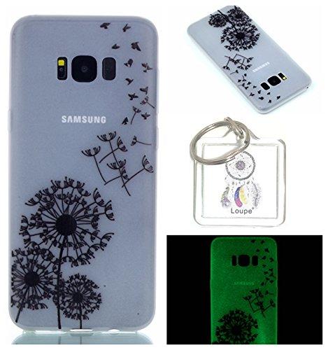 Preisvergleich Produktbild Hülle Leuchtende Galaxy S8 Plus (6.2 Zoll) Silikon Etui Handy Hülle Weiche Transparente Luminous TPU Back Case Tasche Schale Leuchten In Der Nacht Für Galaxy S8 Plus 6.2 Zoll +Schlüsselanhänger (P) (10)