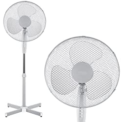 Babz Weiß 40cm oszillierender Stand Ventilator - 1 - Pack