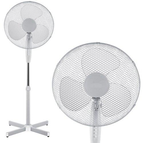 """511sJNeQTwL. SS500  - Babz White 16"""" inch Oscillating Pedestal (Stand) Fan"""