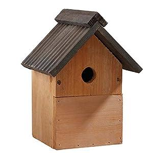 Multi-Purpose Wild Garden Bird Nesting Box, Traditional Wooden Bird Nest House by Happy Beaks