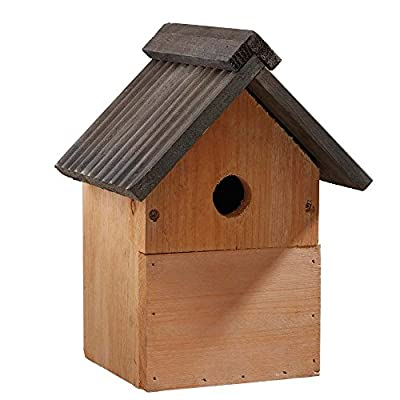 Multi-Purpose Wild Garden Bird Nesting Box, Traditional Wooden Bird Nest House by Happy Beaks from Happy Beaks