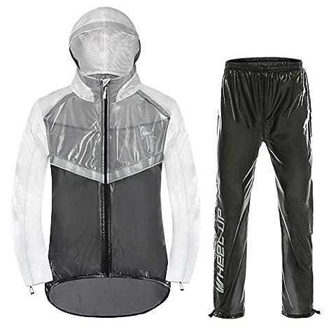 Fastar Bike Riding Raincoat Set, étanche Veste imperméable et pantalon pour femme Homme Outdoor Bicycle, Camping, Fishing