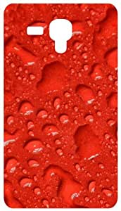 Raindrops In Red Background Back Cover Case for Samsung Galaxy I8190 / SIII Mini / S3 Mini