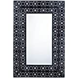 Wall Mirrors Decorative, Bathroom Wall Mirror With Black Frame Moroccan Style