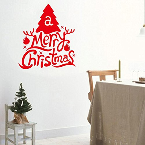 Feliz árbol navidad pegatinas pared habitación cristiana