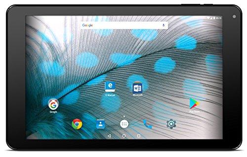 Odys PACE 10 LTE V2 25,65 cm (10,1 Zoll HD IPS) Tablet-PC (1,3GHz Quad Core Prozessor Mediatek MT8321, 16GB HDD, 2GB RAM, ARM Mali T720 MP2, Android 7.0, LTE, Dual-SIM, Aluminium-Rückseite) Schwarz