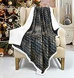 Catalonia Plaid Sherpa Decke Flauschige Kuscheldecke, Super weiche Fleece Sofadecke Plüsch-Flanell-Decke für Couch und Bett, wendbare TV-Decke, fürsorgliche Geschenk, 127x152cm, Holzkohle