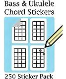Ukulele Chord & Tablature Stickers Set (250 Sticker Pack) Super Handy!
